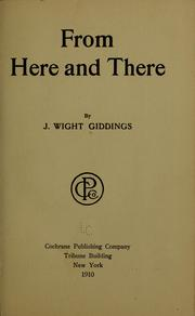 Cover of: From here and there | Giddings, J., Wight