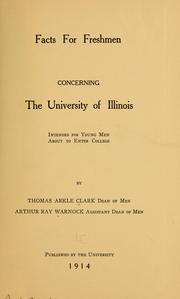 Cover of: Facts for freshmen concerning the University of Illinois