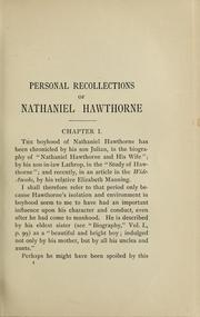 Cover of: Personal recollections of Nathaniel Hawthorne | Horatio Bridge