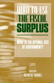 Cover of: How to use the fiscal surplus |