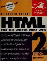 Cover of: HTML for the World Wide Web