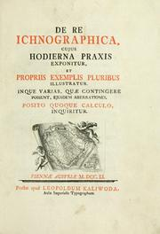 Cover of: De re ichnographica