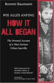 Cover of: How It All Began | Bommi Baumann