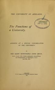 Cover of: The functions of a university