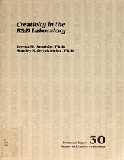 Cover of: Creativity in the R&D laboratory