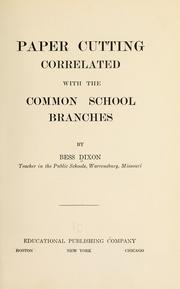 Cover of: Paper cutting correlated with the common school branches