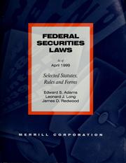 Cover of: Federal securities laws | Edward S. Adams