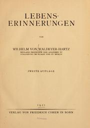 Cover of: Lebenserinnerungen