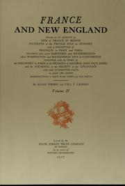 Cover of: France and New England