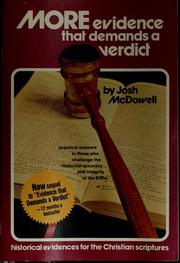Cover of: More evidence that demands a verdict