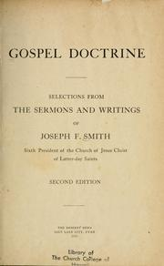 Cover of: Gospel Doctrine | Joseph Fielding Smith