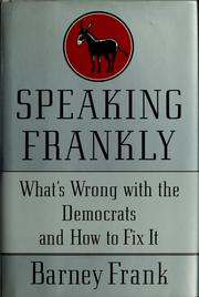 Cover of: Speaking frankly