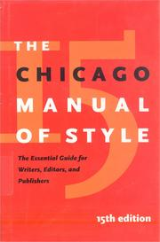 Cover of: The Chicago manual of style |