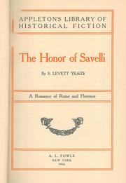 The Honour of Savelli by Sidney Levett Yeats