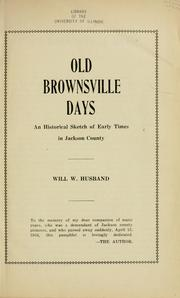 Cover of: Old Brownsville days