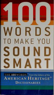 Cover of: 100 words to make you sound smart | Houghton Mifflin Company