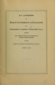 Cover of: An address on the University of Illinois