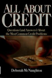 Cover of: All about credit