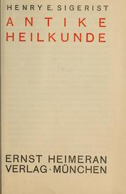 Cover of: Antike Heilkunde