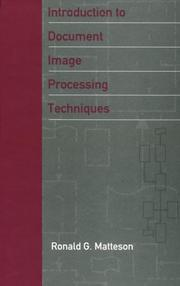 Cover of: Introduction to document image processing techniques | Ronald G. Matteson