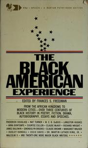 Cover of: The Black American experience | Frances S. Freedman