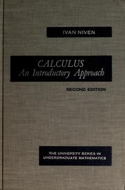 Cover of: Calculus