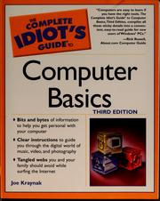 Cover of: The complete idiot's guide to computer basics