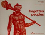 Cover of: Forgotten peoples | Rogers, Edward S.