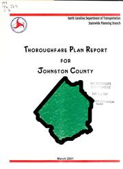 Johnston County thoroughfare plan