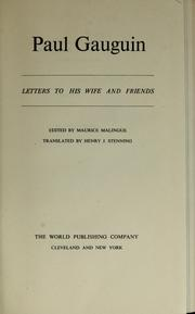 Cover of: Letters to his wife and friends