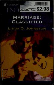 Cover of: Marriage: classified | Linda O. Johnston