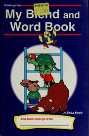 My blend and word book by Beka Book Publications (Firm)