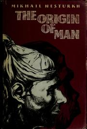 Cover of: The origin of man