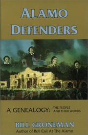 Cover of: Alamo defenders