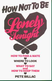 Cover of: How not to be lonely tonight