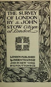 Cover of: The survey of London