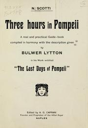 Cover of: Three hours in Pompeii