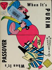 Cover of: When it's Passover ; When it's Purim | Robert Garvey