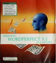Cover of: Winning WordPerfect 5.1. in 5 hours | Christine Cooper