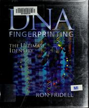 Cover of: DNA fingerprinting