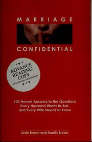 Cover of: Marriage confidential | Josie Brown