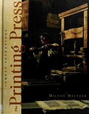 Cover of: The printing press | Milton Meltzer