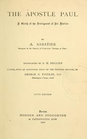 Cover of: The apostle Paul | Auguste Sabatier