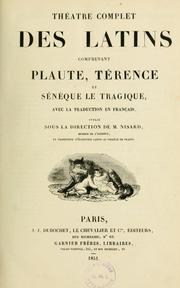 Cover of: Théatre complet des latins