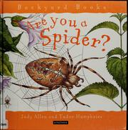 Cover of: Are you a spider? | Judy Allen