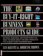 Cover of: The buy-it-right business products guide