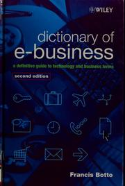 Cover of: Dictionary of e-business
