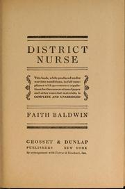 Cover of: District Nurse