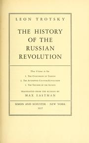Cover of: The history of the Russian revolution