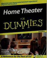 Cover of: Home theater for dummies | Daniel D. Briere